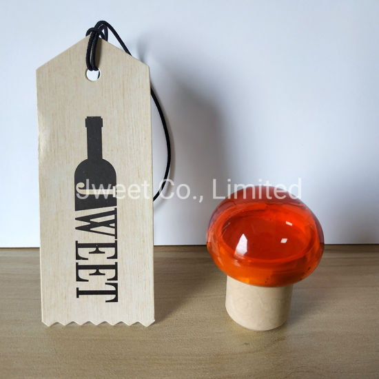 Customized Wine Bottle Caps Mushroom Shape Cork Stopper