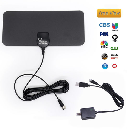 China HDTV 50~80 Miles Long Range Indoor HDTV Digital TV Antenna Flat Thin  with Amplifier Signal Booster High Gain Television Aerial - China 4K Clear TV  Antenna, Best Digital TV Antenna