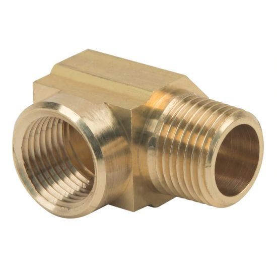 High Precision CNC Machining Brass Threaded Straight Hydraulic Elbow Pipe Fitting
