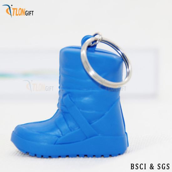 PVC Mini Shoes Blue Creative Design High Quality Key Chain