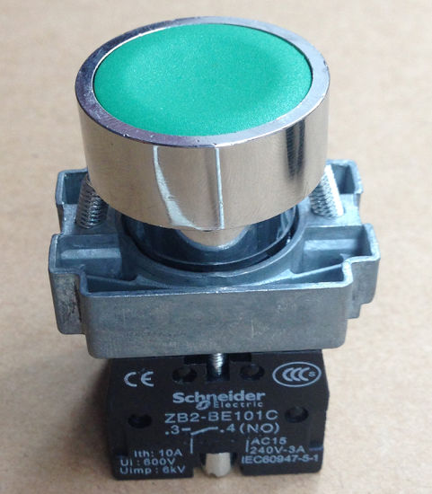 GREEN XB2-BA31C schneider Push button switch ZB2-BA3C+ZB2-BZ101C