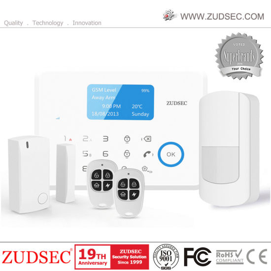 Wireless Burglar GSM Home Security Alarm System with Touch Screen