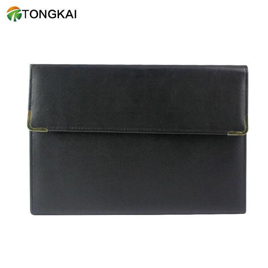 A4-Paper Organizer Leather File Folder with Calculator