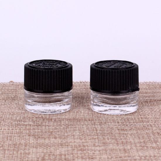10ml Glass Brightening Eye Cream Jar Black Child-Resistant Cap