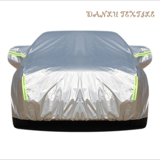 China Factory Automatic Car Body Cover Car Cloth Waterproof Car Cover Sun-Shading Silver Coated pictures & photos