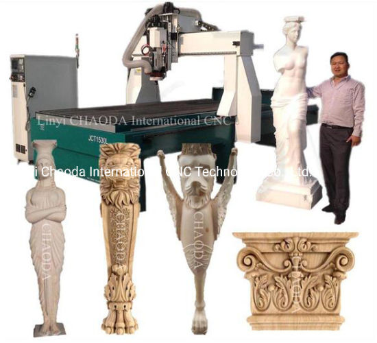 5 Axis EPS Foam Wood Stone Statue Carving 4D CNC Router