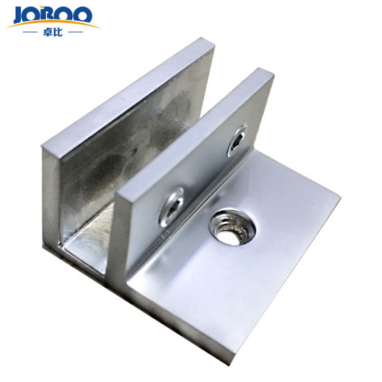 High Quality Solid Brass Custom Wall Mounted Tempered Glass Door Holding Clamps Clips Hardware with Legs for Shower