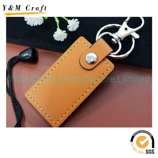 2019 Free Sample Customized Keyring OEM Leather Keychain for Gift