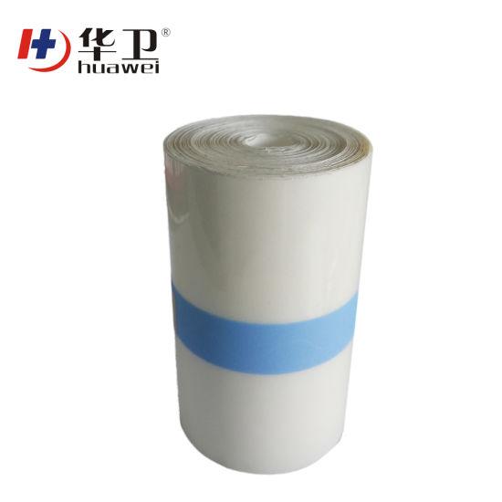Medical Adhesive Glue Coating Breathable PU Film Waterproof Tattoo Protect PU Film Roll