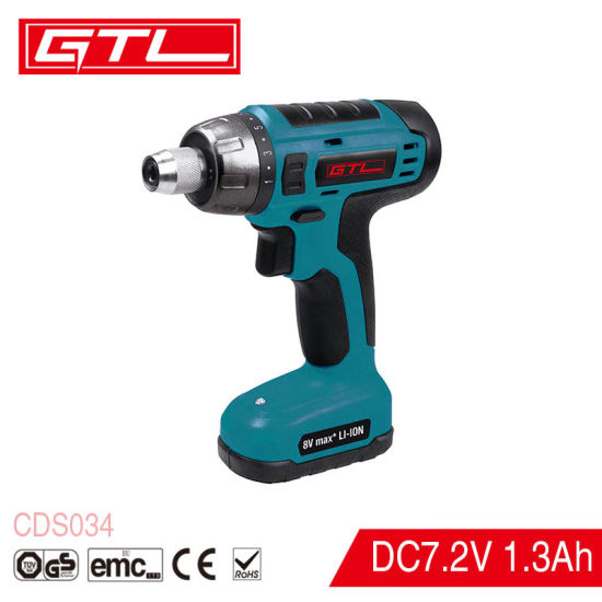 Lithium-Ion Household Rechargeable Cordless Screwdriver with Quick Release Head