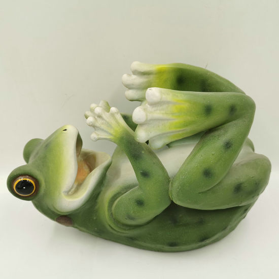 Resin Frog Display Stand Statue Dining Room Decor Polyresin Animal Wine Bottle Holder