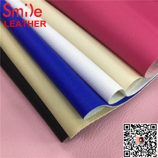 Lr8 Hotsale PVC Artificial Leather for Sofa Covering 0.7mm Single Brushed Backing Soft Feeling