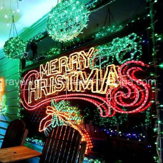 LED Holiday Decorations Rope Lights Christmas Decoration