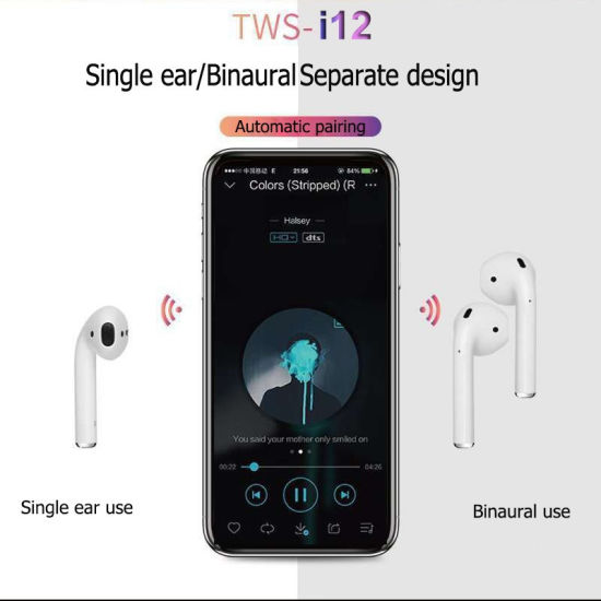 China I12 Tws Bluetooth 5 0 Wireless Earphones Smart Touch Control