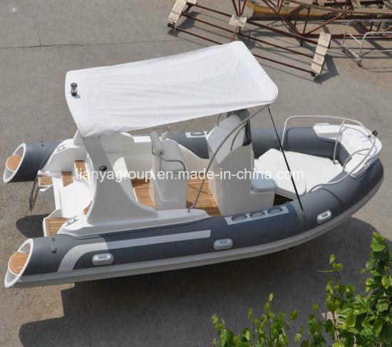 Liya 5.8m Fiberglass Inflatable Boat Rib Boat Fishing Yacht Boat