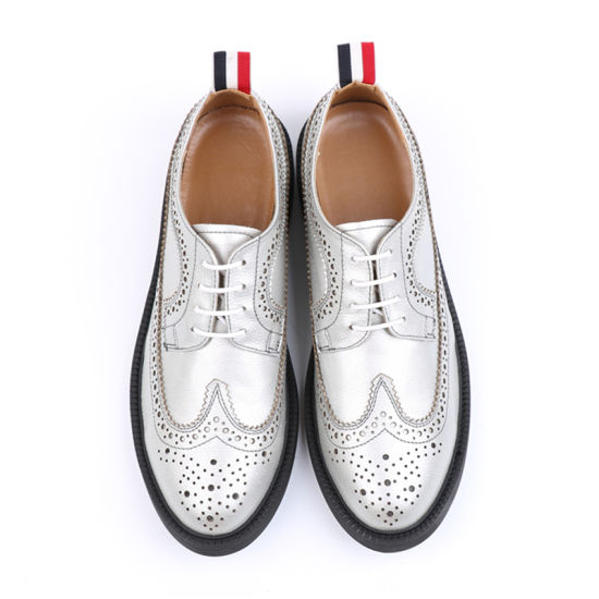 London Brogues White Leather Mens