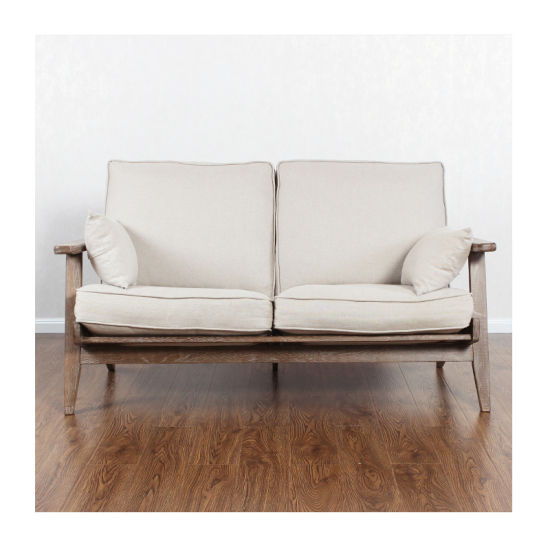 Modern Simple Design Two Seats Solid Wooden Classic Sofa