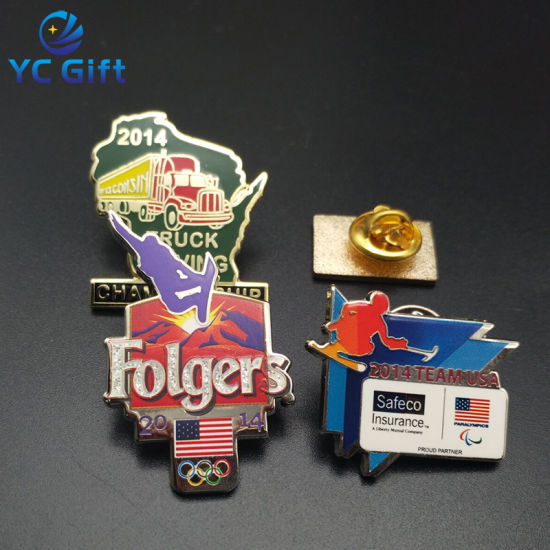 Custom Promotion Police Truck Shape Anniversary Hard Enamel Carnival Souvenir Sports Logo Badges Fashion Metal Pin Badge with Any Design (BG47-D)