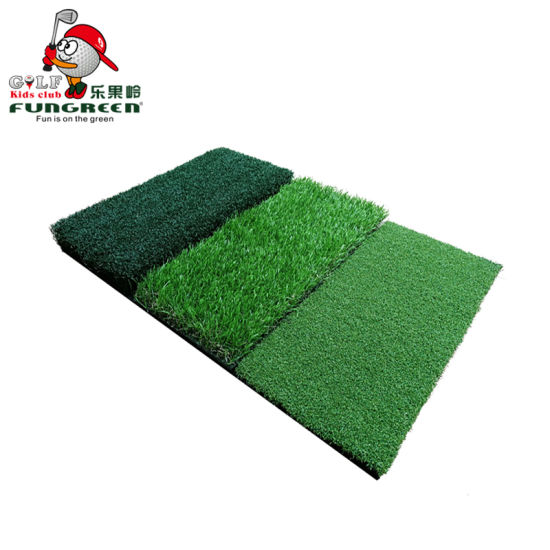 Folding Artificial Tri-Turf Mat Indoor Practice Golf Hitting Mat