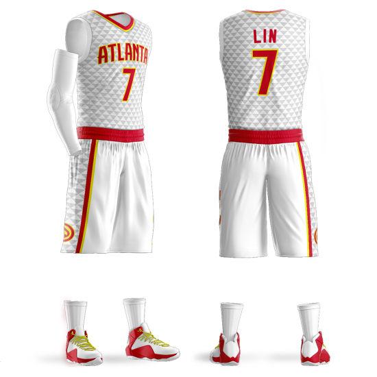 Custom All Team Atlanta Hawks Jeremy Lin Replica Basketball Jersey ...
