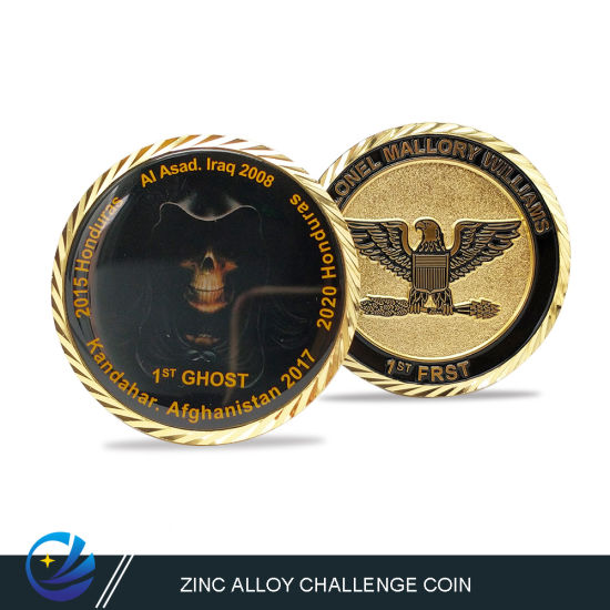 Navy Military Police Gold Metal Commemorative Coin with 3D Effect
