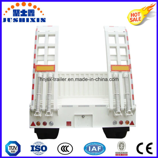 80t-100t Low Flatbed/Lowboy Semi Truck Trailer with Sidewall pictures & photos