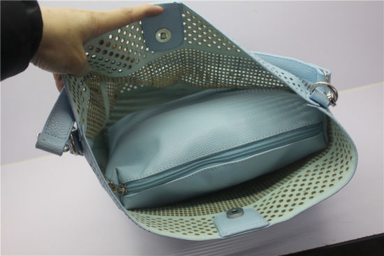 Fashionable Laser Cut Pattern Hobo Bag Women Handbags pictures & photos