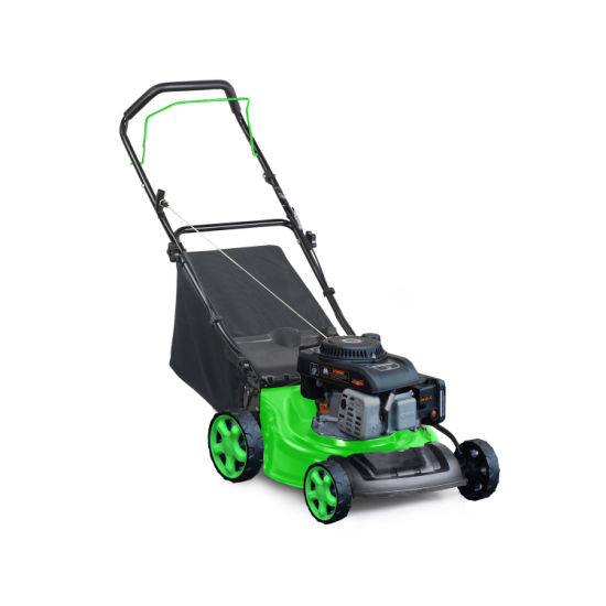 18 Inch Hand Push Lawn Mower with Self Engine Grass Cutter for Landscape