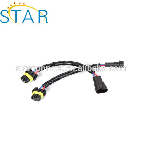 Cables Power Car HID Cable Wire Harness To 9005 9006 Male Socket