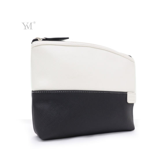 New Product Wholesale Black and White Custom Cosmetic Pouch pictures & photos