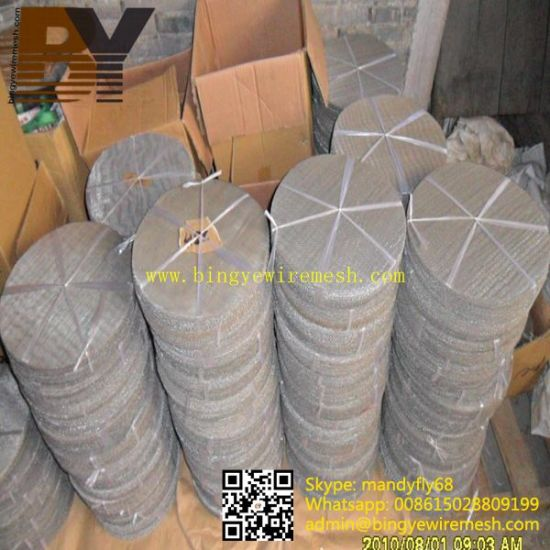 Stainless Steel Wire Cloth Filter Disc pictures & photos