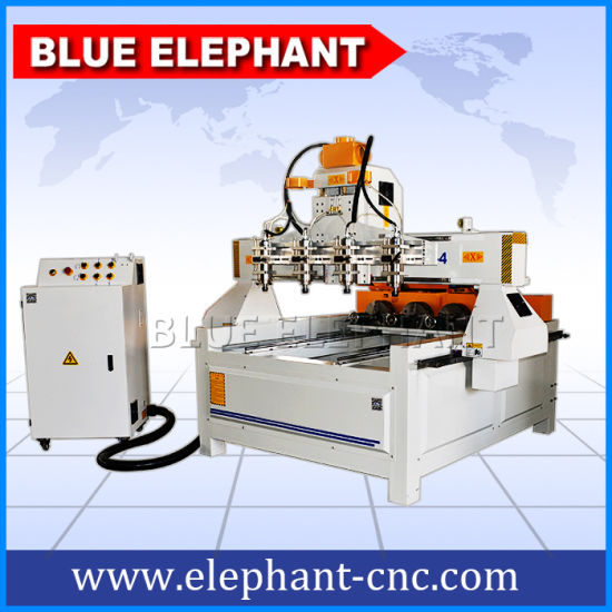 Ele-0809 Multi Spindle 4 Axis CNC Router, Multi Spindle CNC Router Rotary 4th Axis, Automatic 3D Wood Carving CNC Router for Sale pictures & photos