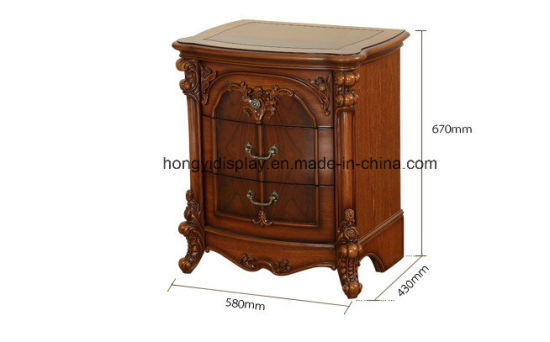 Bedroom Furniture Reclaimed Wood Nightstand Modern Style Bedside Cabinet