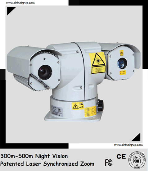 PTZ Outdoor Laser Night Vision Camera Sdi (Day 600m Night 300m) pictures & photos