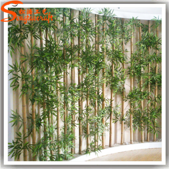 Best Indoor Landscaping Artificial Fake Bamboo Fence For Home Decoration