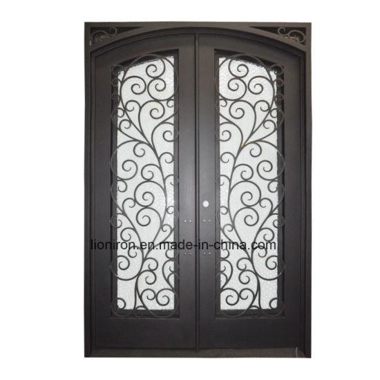 Irnamental Factory Outlet Wrought Iron Entry Doors  sc 1 st  Xiamen Lion Iron Doors Co. Ltd. & China Irnamental Factory Outlet Wrought Iron Entry Doors - China ...