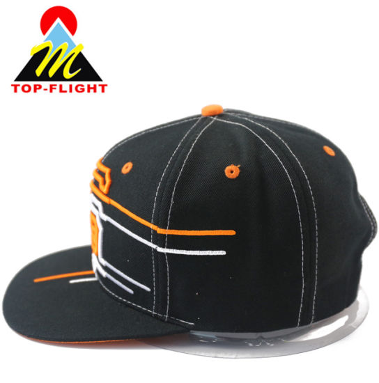 Custom 3D Embroidery Wool Mixed Classical Snapback Cap pictures & photos