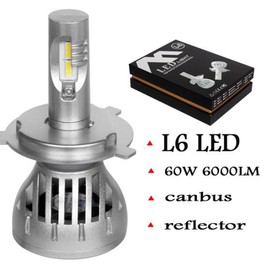 High Power LED Motorcycle Headlight 12V 24V Car LED Headlight 60W 6000lm H4 H7 LED Auto Headlight Bulb for Auto pictures & photos