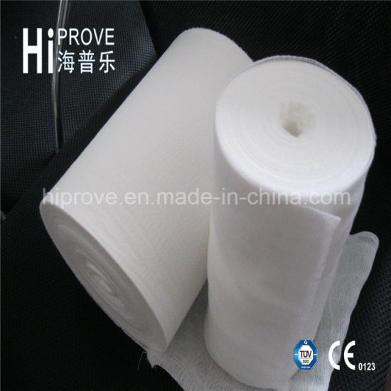 100% Cotton Medical Absorbent Gauze Roll/Medical Guaze pictures & photos