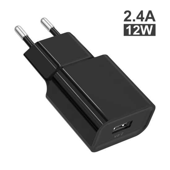 2.4A 12W EU Mini Portable Wall Charger USB C Charger