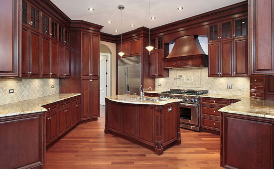China Modern Ready Made Kitchen Cabinet Doors Solid Wood Kitchen