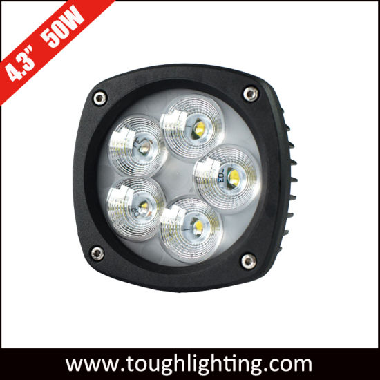 """E-MARK Semi-Round 4.5"""" 50W CREE LED Flood Spot Truck Tractor Work Working Driving Lights"""