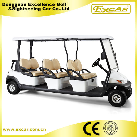 White 6 Seats Electric Sightseeing Golf Car for Sale