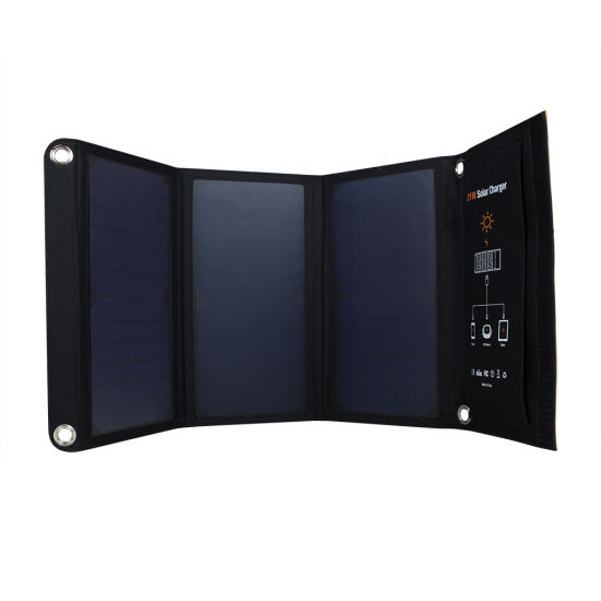 Amazon No. 1 21W Sunpower Foldable Flexible Soft Elastic Portable Solar Mobile Phone Power Panel Cloth Charger pictures & photos
