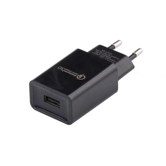Single USB Port EU/Us Fast Charging QC3.0 USB Wall Charger