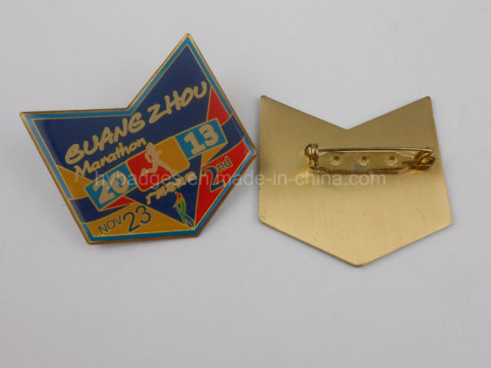 Metal Badge, Printing Logo Star Lapel Pin (GZHY-LP-029) pictures & photos