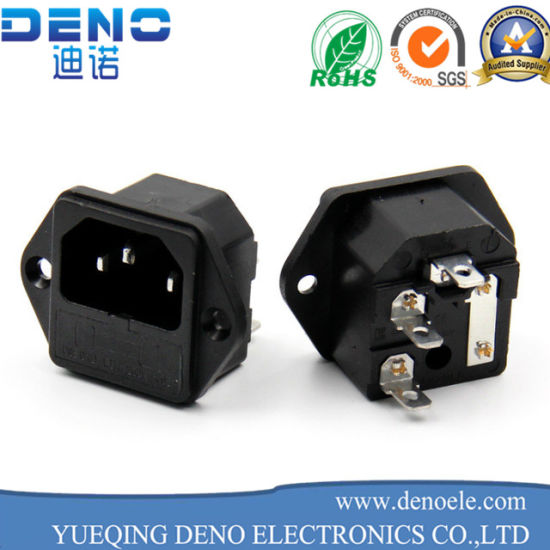 New Panel Mounted 3 Pin Iec 60320 C14 Inlet Male Plug
