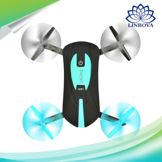 Portable Foldable 2.4G WiFi Fpv Mini Selfie Pocket Drone Helicopter with 720p HD Camera pictures & photos