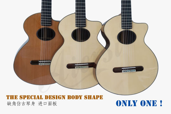 Vintage Design Professional All Solid Concert Solid Classical Guitar pictures & photos