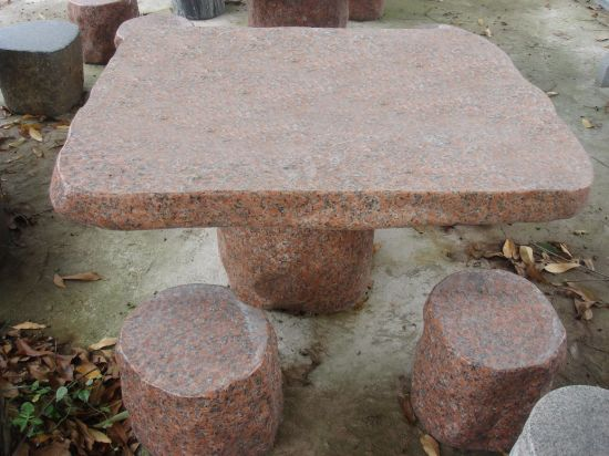 Garden Granite Table and Benches/G603 Grey Granite Table and Benches pictures & photos